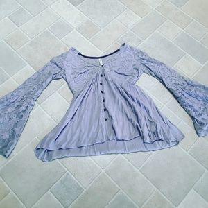 Lavender bell sleeve top